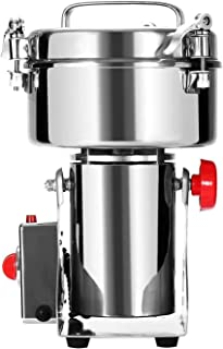 Commercial Home Large Capacity Crusher Grains Dry Grinding Machine,Stainless Steel 1000g High Power Spice Mill, Super Fine...