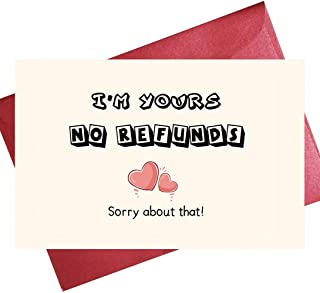 Funny Valentine's Day Card, Card for Boyfriend or Girlfriend, Romantic Card for Wife Husband, Anniversary Card for Him He...