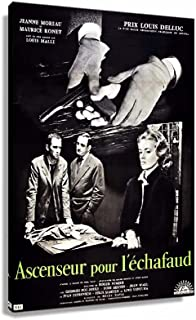 Classic Vintage Film Noir Ascenseur pour l'echafaud 1958 (16x24inch(40x60cm),Unframed)