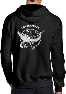 NFtrend Sea Shepherd Men Causal Pullover Hooded Sweatshirt Long Sleeved Hoodie Black