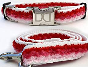 "product image for Diva-Dog 'Cabo Cotton Candy' Custom Small Dog 5/8"" Wide Dog Collar with Plain or Engraved Buckle, Matching Leash Available - Teacup, XS/S"