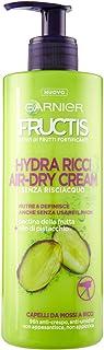 Garnier Fructis Hydra Ricci Air-dry Cream, Trattamento senza risciaquo per capelli da mossi a ricci, Formula arricchita co...