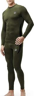 Men's Thermal Underwear Wintergear Fleece Long Johns Compression Base Layer Set Skiing Warm Top & Bottom