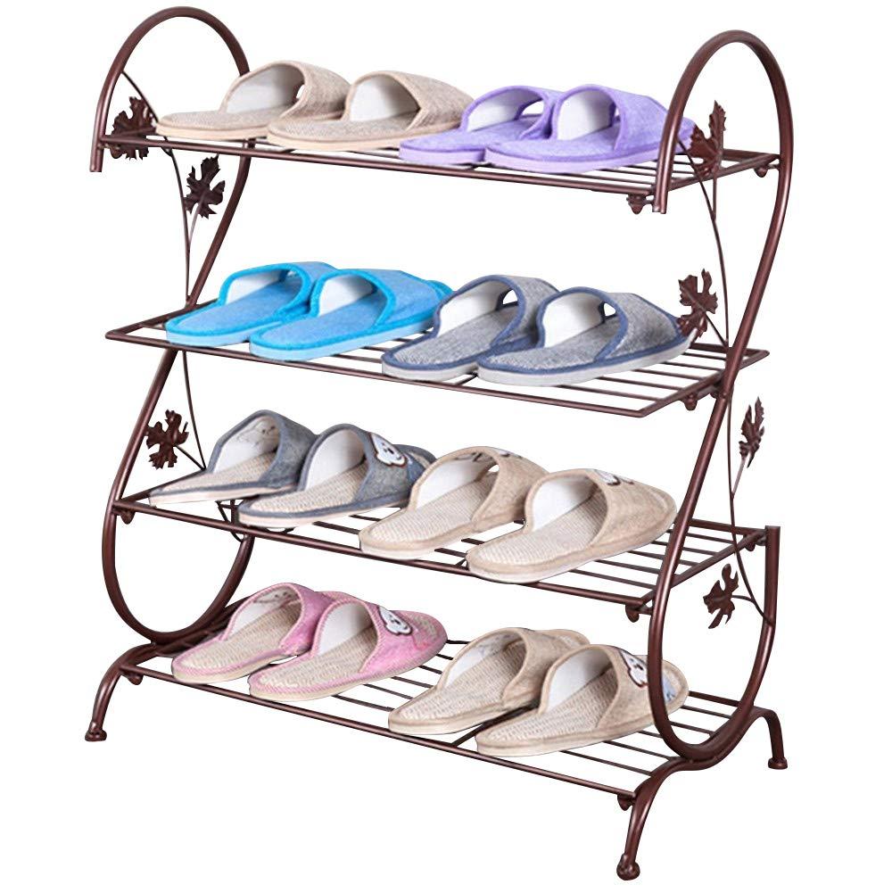 AISHNヨーロッパの鉄多層シンプルな靴ラック収納金属小クオーターシューズラックブロンズ不明
