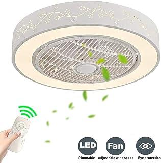Nuevo Ventilador De Techo Con La Lámpara Techo Del LED Invisible Control Remoto Abanico Regulable Ultra Silencioso Plafon Adecuado para Sala Estar Dormitorio Habitación Infantil[Energética A ++]