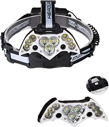 DaQingYuntur Shockproof and Waterproof Design Outdoor Headlights Multi-Leaf Head-Mounted Lamps, USB Charging Interface, 7 Lighting Modes, Light and Easy to wear and use