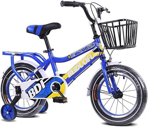 centro comercial de moda LISI Vélo pour Enfants 12 12 12 14 16 18 pouces Poussette pour Enfants hombres et mujer Bébé vélo vélo 4 Colors en Option,azul,16   gran descuento