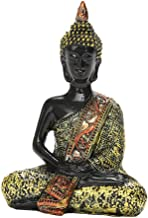 Prettyia Buddha Statue Resin Seated Buddhism Fengshui Figurine for Home Office Decor
