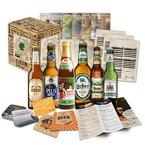 Kleines Biergeschenk mit den besten deutschen Bieren - Geschenkidee für Freunde, Geschenkidee für Geschwister, tolle Geschenkidee für Bierliebhaber, besondere Geschenkidee für Väter