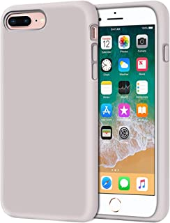 "Anuck iPhone 8 Plus Case, iPhone 7 Plus Case, Soft Silicone Gel Rubber Bumper Case Microfiber Lining Hard Shell Shockproof Full-Body Protective Case Cover for iPhone 7 Plus /8 Plus 5.5"" - Lavender"
