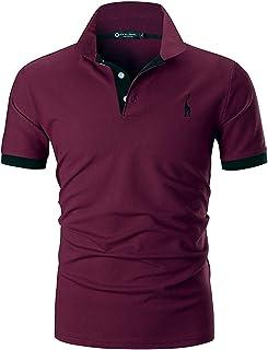 eb4b8a44b792e6 STTLZMC Polo Uomo Manica Corta Basic Tennis T-Shirt Casual Gentiluomo  Poloshirt Cotone