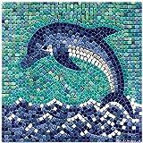 kit mosaico DIY manualidades, 20x20cm Delfin