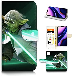 for iPhone 11 Pro Max, AjourTec Designed Flip Wallet Phone Case Cover, A40433 Starwars Yoda