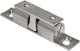 HKB ® 1 dubbele kogelsnapper kastsnapper deursnapper meubeldeursnapper messing vernikkeld 11 x 60 mm met schroeven