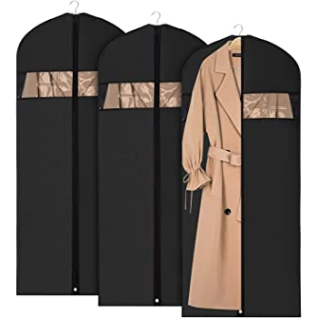 Univivi 衣類カバー 洋服カバー 3枚セット 収納カバー 型崩れ防止 防塵 防カビ 折り畳み 持ち運び オックスフォード材質 (60×152.4cm)