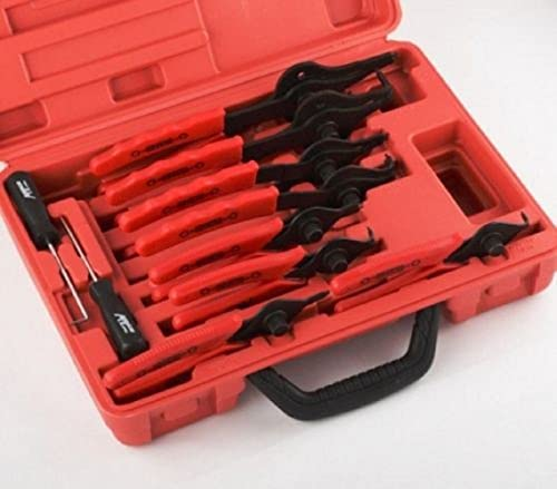 high quality New popular Snap Ring Plier Set 11pc Mechanic PRO outlet online sale Circlips w/Case Car Truck Motorcycle, online sale