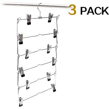 LOHAS Home Pantaloni Rack Di Stoccaggio Porta Di Pantaloni Multifunzionale Multipiano Multistrato Pantaloni Appeso-A Pacchetto di 2