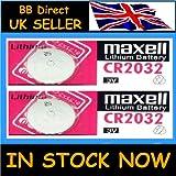 MAXELL - 2 pilas CR2032, 3V, litio