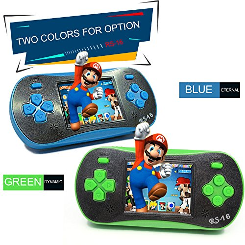 Walmeck- Portable Video Game Console 8 Bit Retro Handheld Game Player Giochi 260 Classici integrati - Verde