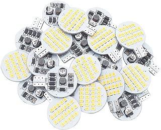 20x Grv T10 LED Light Bulb 921 194 192 C921 24-2835 SMD Super Bright Lamp AC/DC 12V-24V 2.5 Watt Warm White (2nd Generation)