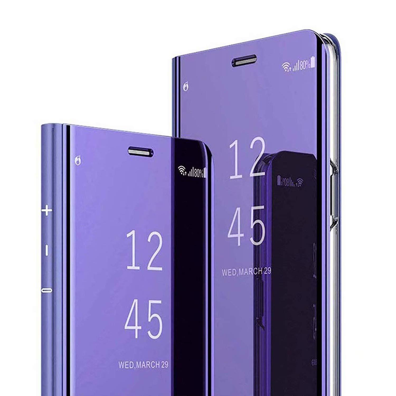 POBIN Para LG G8 ThinQ Funda,Translúcido Espejo Standing Cover ...