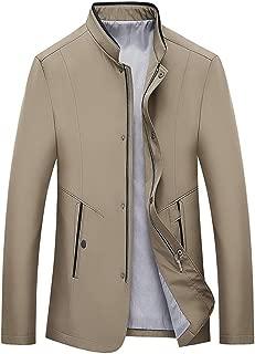 Zackate Men's Slim Fit Lightweight Sportswear Jacket Casual Bomber Jacket Business Windbreaker