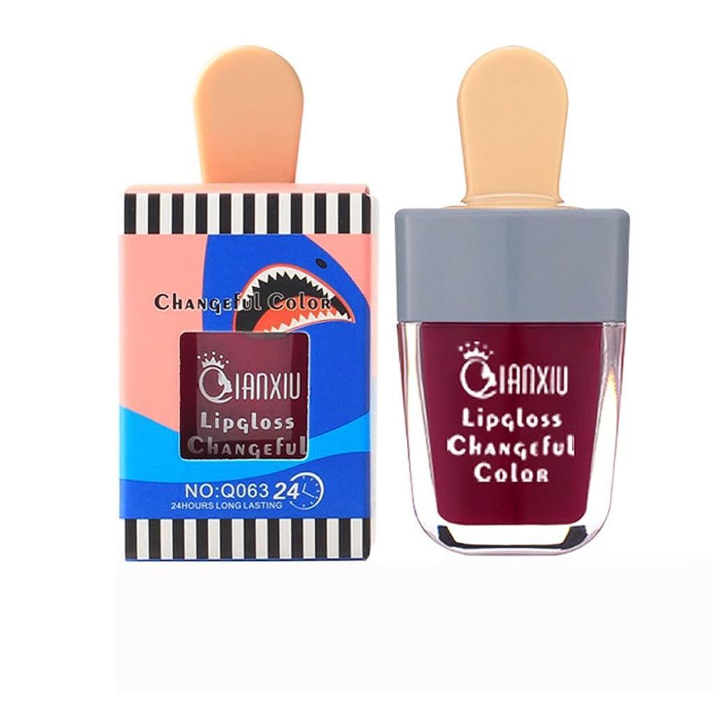 チャーター設計図案件液体口紅 アイスクリーム メイク リップスティック リキッド カワイイ とろけるような付け心地美人発色上質ルージュhuajuanF