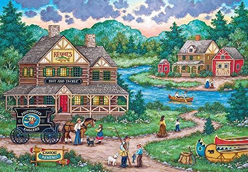 Lilqiu Signature Series, Puzzle, Adirondack-Angler, 1000-teiliges Puzzle