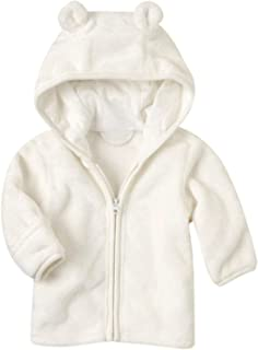 Noubeau Infant Baby Boys Girls Fleece Ears Hat Lined Hooded Zipper Up Jacket Coat Tops Outwear Overcoat Warm Fall Winte