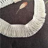 Encaje de algodón borlas flecos traje cojín cinta dobladillo niña vestido DIY encaje ribete vendido por 2 yardas (B)
