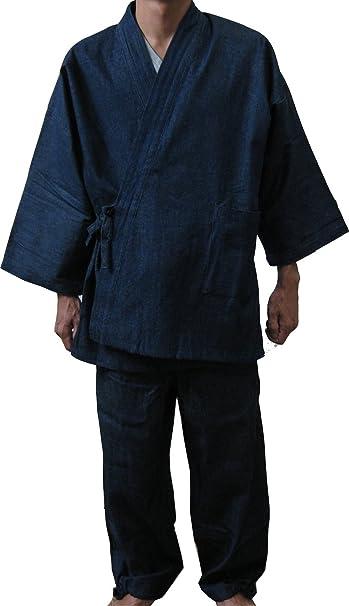 Edoten Abbigliamento Da Lavoro Uomo Giappone Kimono Monaco Vestiti Da Lavoro Denim Giacca Pantaloni Abito Monaco Abbigliamento