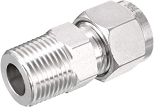 uxcell Stainless Steel Compression Tube Fitting 3/8-inch NPT Male x Ф10 Tube OD
