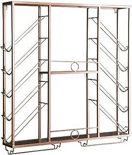 Casier à vin mural |Décoration de maison et de cuisine |Support de rangement en fer lourd |Conception d'installation fa...