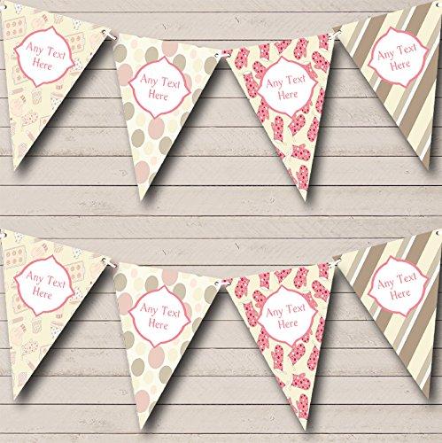 Leuke taart bakken strepen vlekken gepersonaliseerde verjaardag Bunting partij Banner decoratie slinger Small
