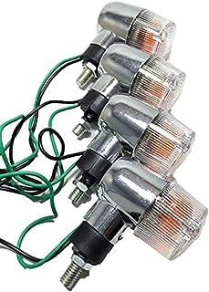 クリア メッキ ウインカー 4個 セット 丸型 ミニ レンズ カラー シルバー 銀 オレンジ 2種 ゼファー バリオス ZRX エストレア モンキー ゴリラ エイプ 等 汎用