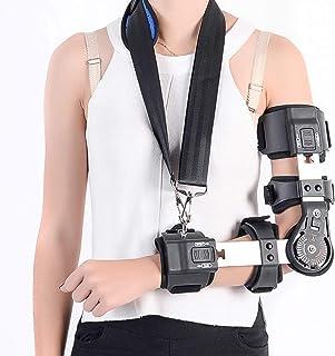 Elbow Braces Adjustable Hinged Full Elbow Joint Fixed Brace Stabilizer - Breathable Fracture Correction, Arm Rehabilitatio...