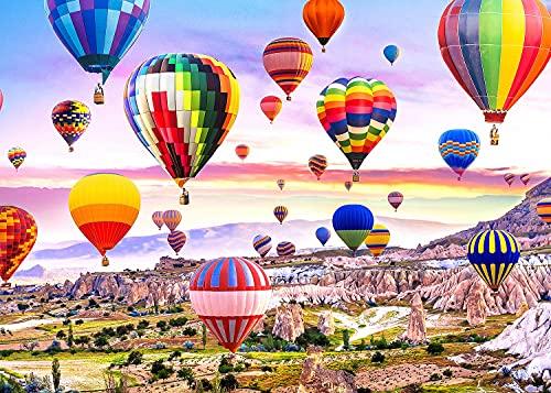Ucradle Puzzle 1000 Teile, Heißluftballon-Puzzle für Erwachsene, Geschicklichkeitsspiel für die ganze Familie, Klassische Puzzle, Geburtstagsgeschenk (70x50 cm)