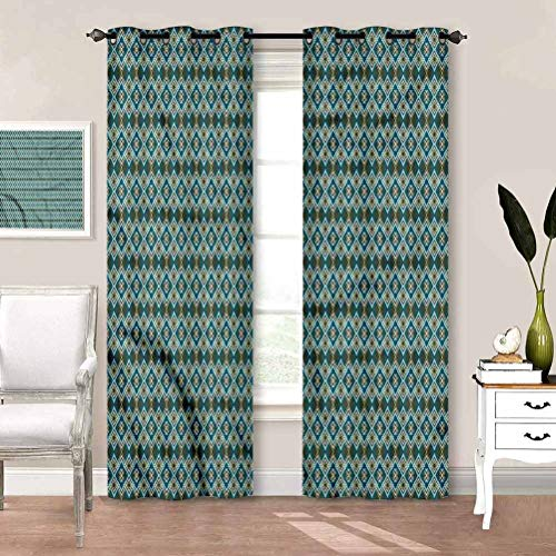 painting-home Draperies & Curtains Geometric, Overlapping Shapes Blackout Patio Door Curtain Panel Keep The Room Nice and Dark As Well W84 x L84 Inch