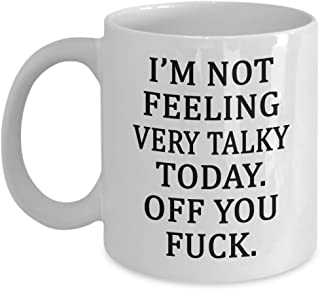 not feeling talky today mug
