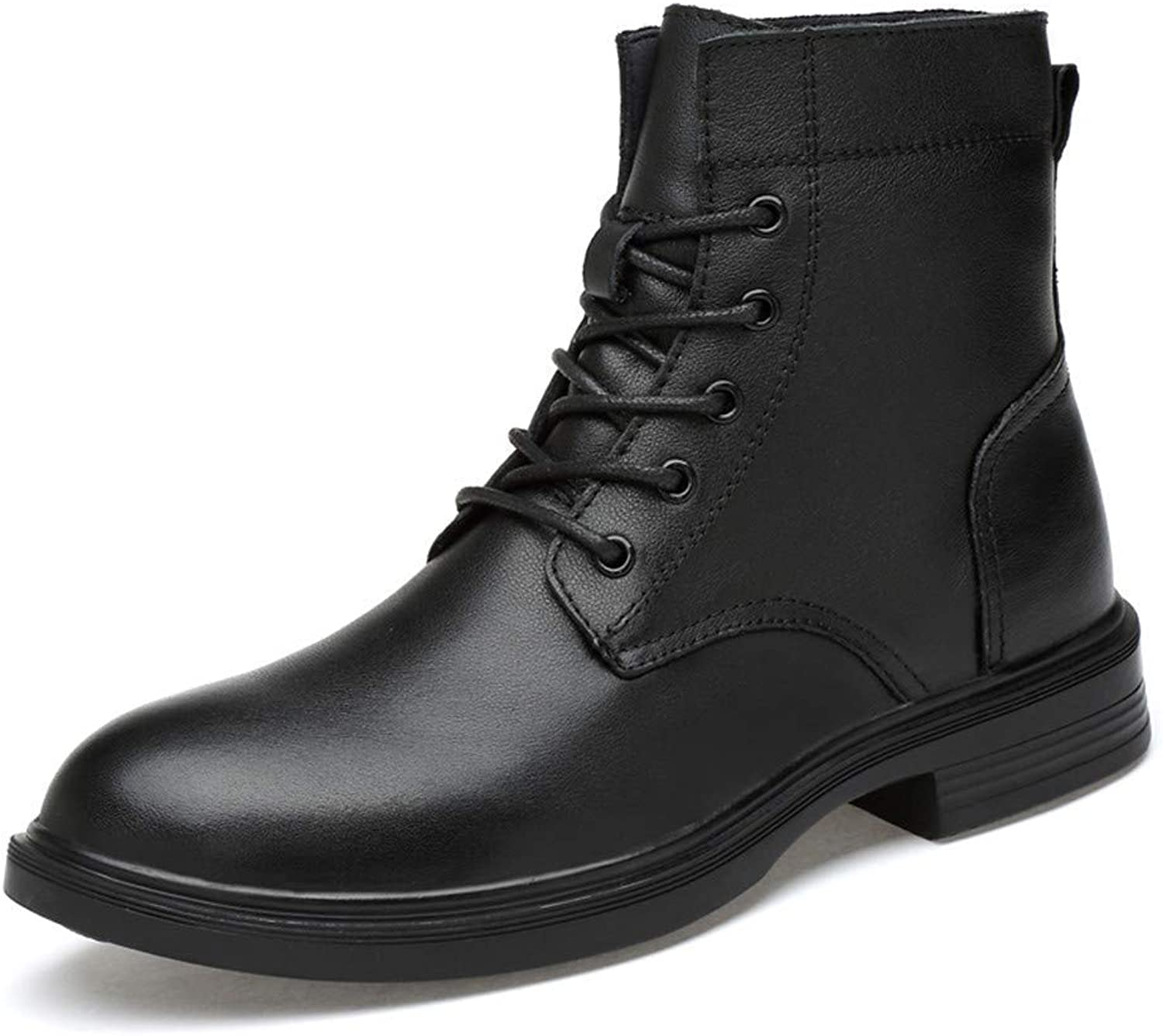 Fuxitoggo Men's Fashionable Ankle Boots, Casual Comfortable And Soft High Top Sole Martin Boots (Warm Velvet Optional) (color  Black, Size  47 EU) (color   As shown, Size   One size)