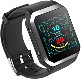 ZMDHLY Men and Women Smart Watch - 1.54 Inch MTK6580 Quad Core 1.3GHZ Android 5.1 3G Smart Watch 460Mah 0.3 Megapixel Heart Rate Monitor,Silver