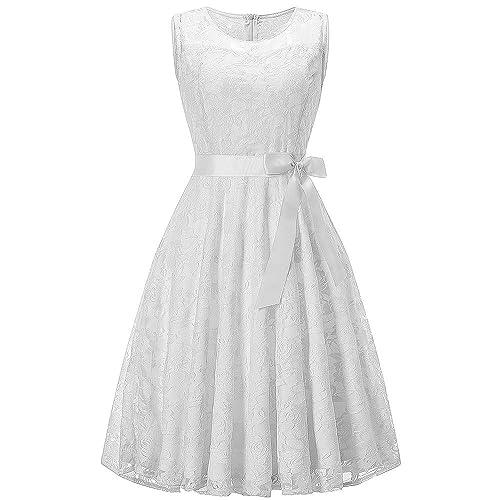 89d334a05c9 UOFOCO Wedding Bridesmaid Dress for Womens Sleeveless Lace Long Dress  Formal Ladies