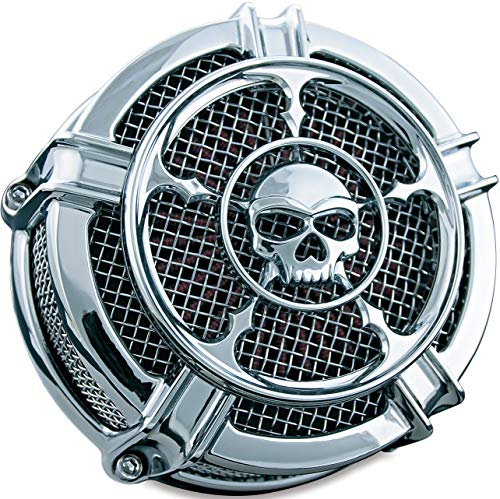 Kuryakyn 9459 Mach 2 Zombie Air Cleaner/Filter Kit for 2008-17 Harley-Davidson Motorcycles, Chrome