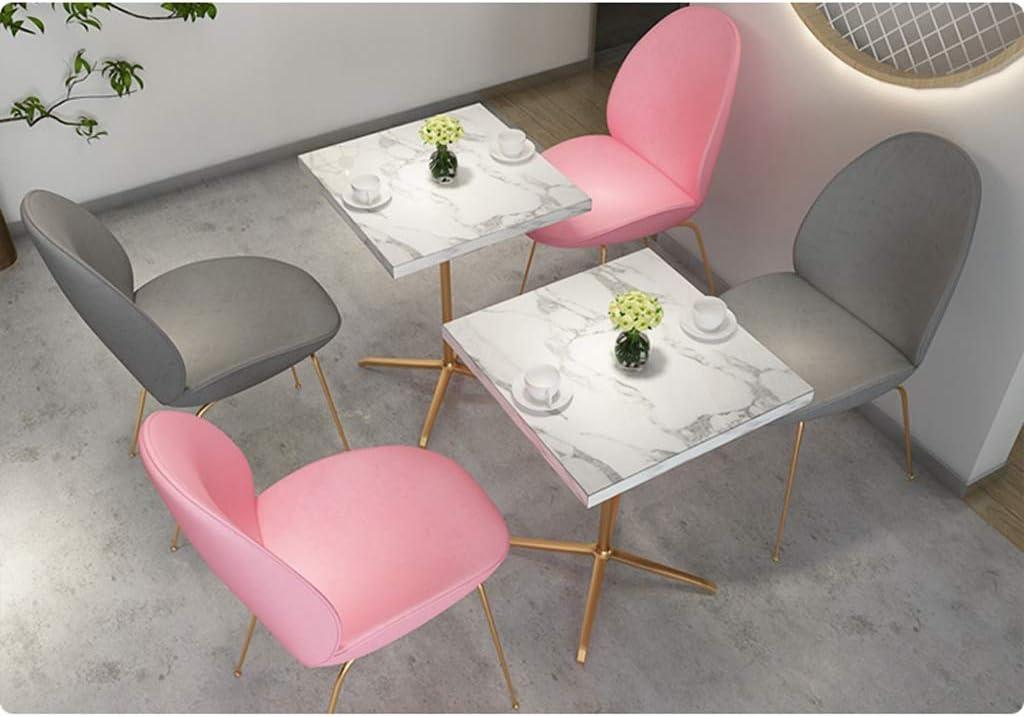 Chaise WGZ de Salle, de Bureau Simple, créative Dossier, Loisirs, Maison Adulte de Salle Simple (Color : Black) Pink