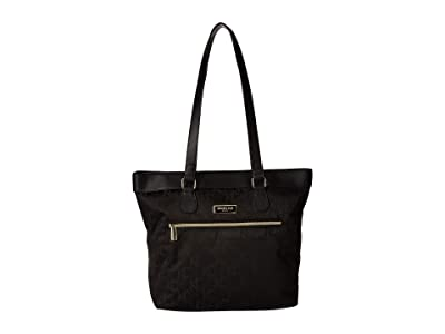 Kenneth Cole Reaction KC Street Laptop Tote (Black) Tote Handbags