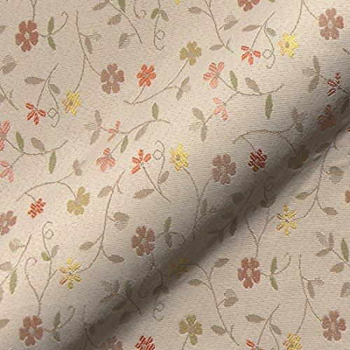 Stoff Polsterstoff Möbelstoff Bezugsstoff Meterware für Stühle, Eckbänke, etc. - Graubünden Beige Blumen - MUSTER