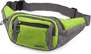 ZNYB Hiking Bag Waist Bag, New Multi-Function Sports Phone Bag Men's Fashion Business Collection Wallet Practical wear-Resistant Waterproof bumbag (Color : Green)