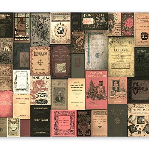 murando Papier peint intissé 350x256 cm Décoration Murale XXL Poster Tableaux Muraux Tapisserie Photo Trompe l'oeil Vintage Retro Livre m-C-0242-a-b