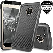 Motorola Moto E4 Case, TJS Dual Layer Hybrid Shock Absorbing Impact Resist Rugged Drop Protection Case Cover Kickstand Silicone Inner Layer For Motorola Moto E4