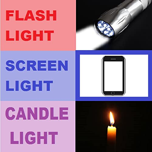 Flashlight, ScreenLight and Candle Light app with brightest LED light
